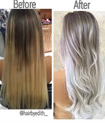 should wash hair before bayalage color correction spotty blonde to lovely violet ash hair color