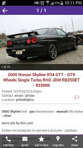 nissan gtr for sale nj i was searching through craigslist in america and stumbled upon