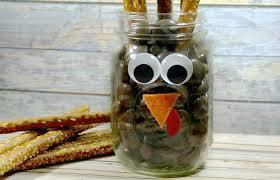 Jar Thanksgiving Turkey Pretzel Jar