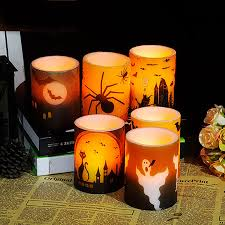 halloween candels halloween candle decoration led bougies et chandelles velas