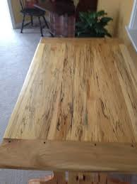 Maple Table Spalted Maple Ambrosia Maple Table And Benches By Michigander