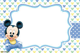 Make Birthday Invitation Cards Online For Free Printable Free Printable Mickey Mouse 1st Birthday Invitations Template