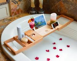 Bathtub Wine And Book Holder Best 25 Bath Accessories Ideas On Pinterest Glass Canisters