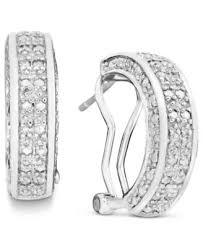silver diamond earrings townsend cut diamond hoop earrings in 18k gold