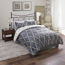 Beautiful Comforters Bedroom Stunning Grey Comforters At Walmart With Iron Headboard