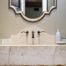 Bathroom Vanity Backsplash by Curved Bathroom Vanity Backsplash Design Ideas