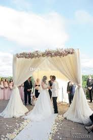 wedding arches square white silk wedding backdrop and piping frame square pipe and