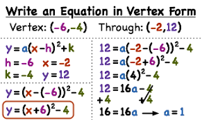 how do you write a quadratic equation in vertex form if you have