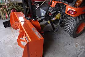 adjusting the height of a 3 point hitch snowblower