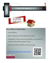 new minor in real estate california state university northridge