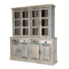 kitchen winter white reclaimed wood breakfront hutch sideboard