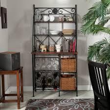 Bakers Rack Amazon Amazon Com Belham Living Solano Bakers Rack With Baskets Kitchen
