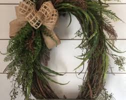 grapevine wreath etsy