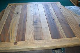 Making A Wood Desktop by Reclaimed Barn Wood Table Top 30x30 Urban Rustic Restaurant Modern
