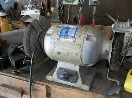 Old Bench Grinder Crendall Auction Sale August 1 2012 Sporting Goods Auction