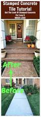 Painted Porch Floor Ideas by Stained Cement Porch Concrete Walkway Ideas Walkways Painted