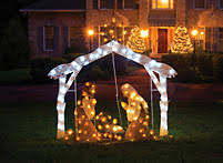 lighted outdoor nativity lifeway christian nativity