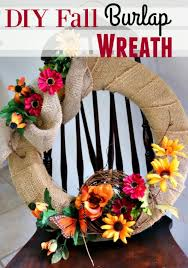 Home Decor With Burlap Fall Home Decor Diy Burlap Fall Wreath