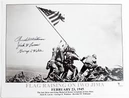Flag Iwo Jima Lot Detail World War Ii Iwo Jima Flag Raising Signed 11