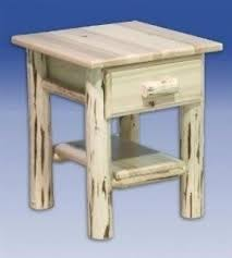 Curved Nightstand End Table Solid Wood Nightstands Foter
