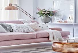 living room square pink soft sofa square black and white circle