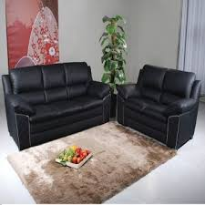 Black Leather Sofa Recliner Leather Sofa Half Leather Second Grade Leather Sofa Fabric Sofa