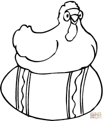 hen hatching chicken eggs coloring page wisacare com