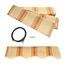 Replacement Retractable Awning Fabric Aleko Awning Fabric Replacement 13x10 Feet For Retractable Awning
