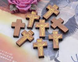 small wood crosses small wooden cross etsy