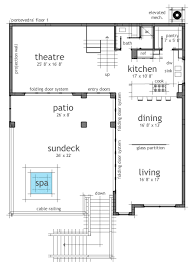 modern beach house plans home office
