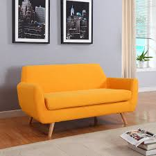 amazon com mid century colorful linen fabric sofa loveseat in
