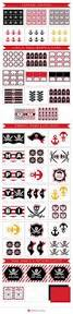 pirate birthday party invitation thank you card cupcake toppers