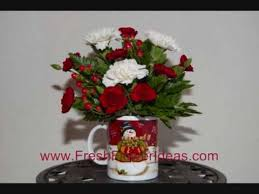 christmas flower arrangements how to make a christmas flower arrangement in mug
