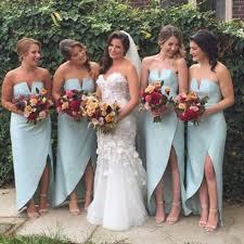 unique charming simple design side split cheap wedding party