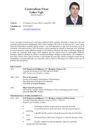 sample esthetician resume cv gabor vigh sap
