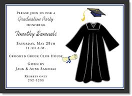 graduation cap invitations blue graduation cap and gown party invitations by ib designs