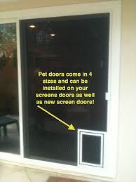Exterior Dog Doors by Pet Screen Doors Screen Door And Window Screen Repair And