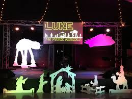 Church Stage Christmas Decorations Star Wars Christmas Church Stage Design Ideas