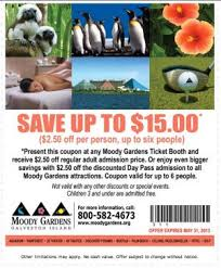 15 coupon to moody gardens in galveston texas deals and