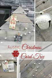 rustic pallet wood christmas card tree day ten of 12 posts of