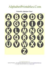 circle shaped a z letter chart templates alphabet printables org