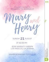 watercolor wedding invitation of color 2016 rose quartz and