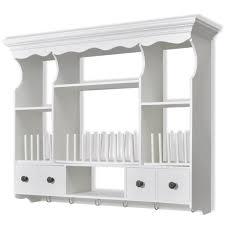 white kitchen wall display cabinets food kitchen storage equipment wall mounted dish rack