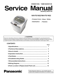 na fs16g2 14g2 panasonic washing machine service manual printed