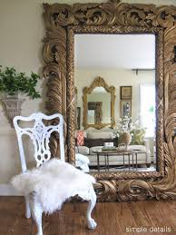 furniture antwerp leaner mirror with armchair and rug for home
