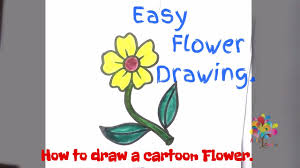 how to draw cartoon flower arts and crafts for kids youtube
