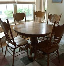 beautiful walter of wabash oak pedestal table and chairs ebth