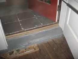 Wooden Exterior Door Threshold Installing A Tile Landing Plus Raising A Door Sill Building Moxie