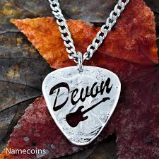 custom name jewelry custom guitar necklace name jewelry big cut and