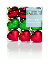 shatterproof baubles tree decoration in mixed green